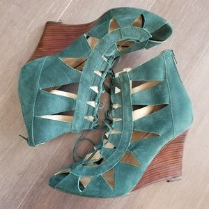 Klub Nico for Anthro lace up wedges NWOT